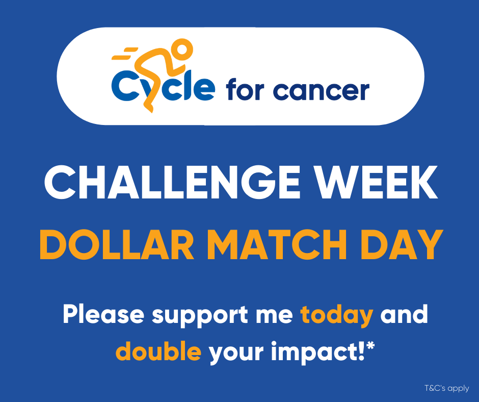 Cycle for Cancer Dollar Match Day 6