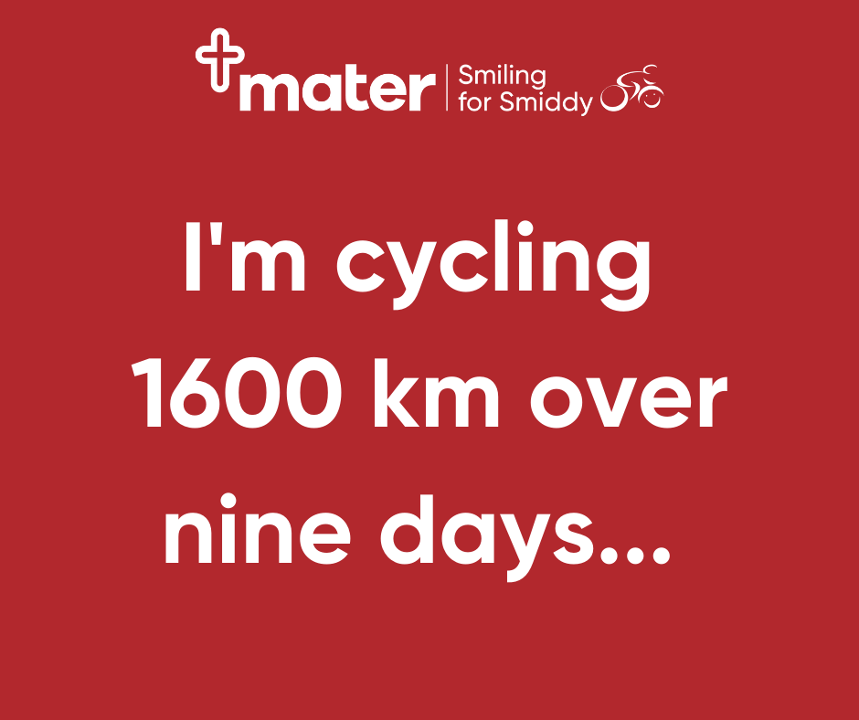 Facebook - I'm cycling 1600km...