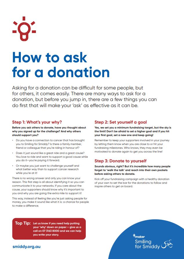 How to ask for a donation