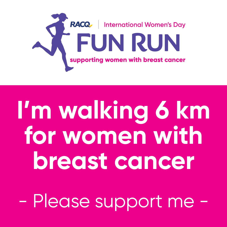 Instagram - I'm walking 6 km - please support