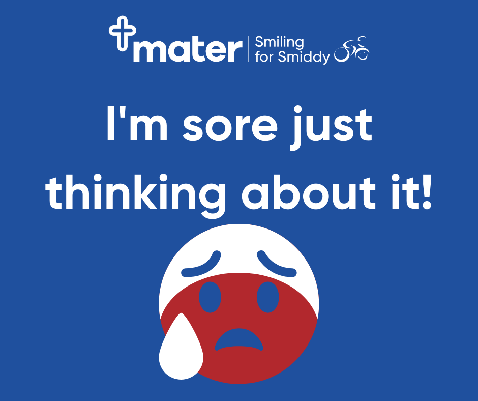 Facebook - I'm sore just thinking about it!
