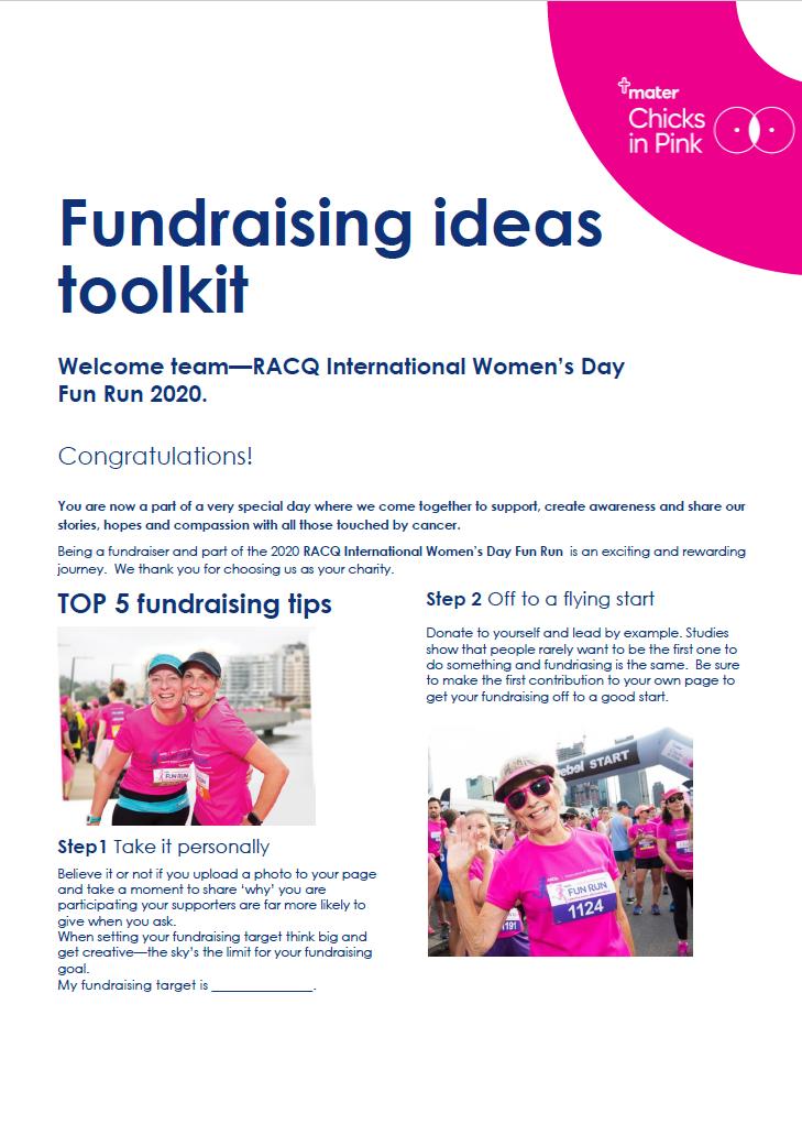 Fundraising ideas toolkit