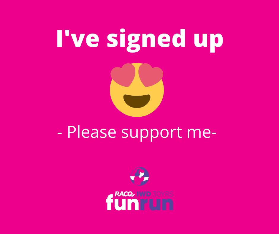 I've signed up