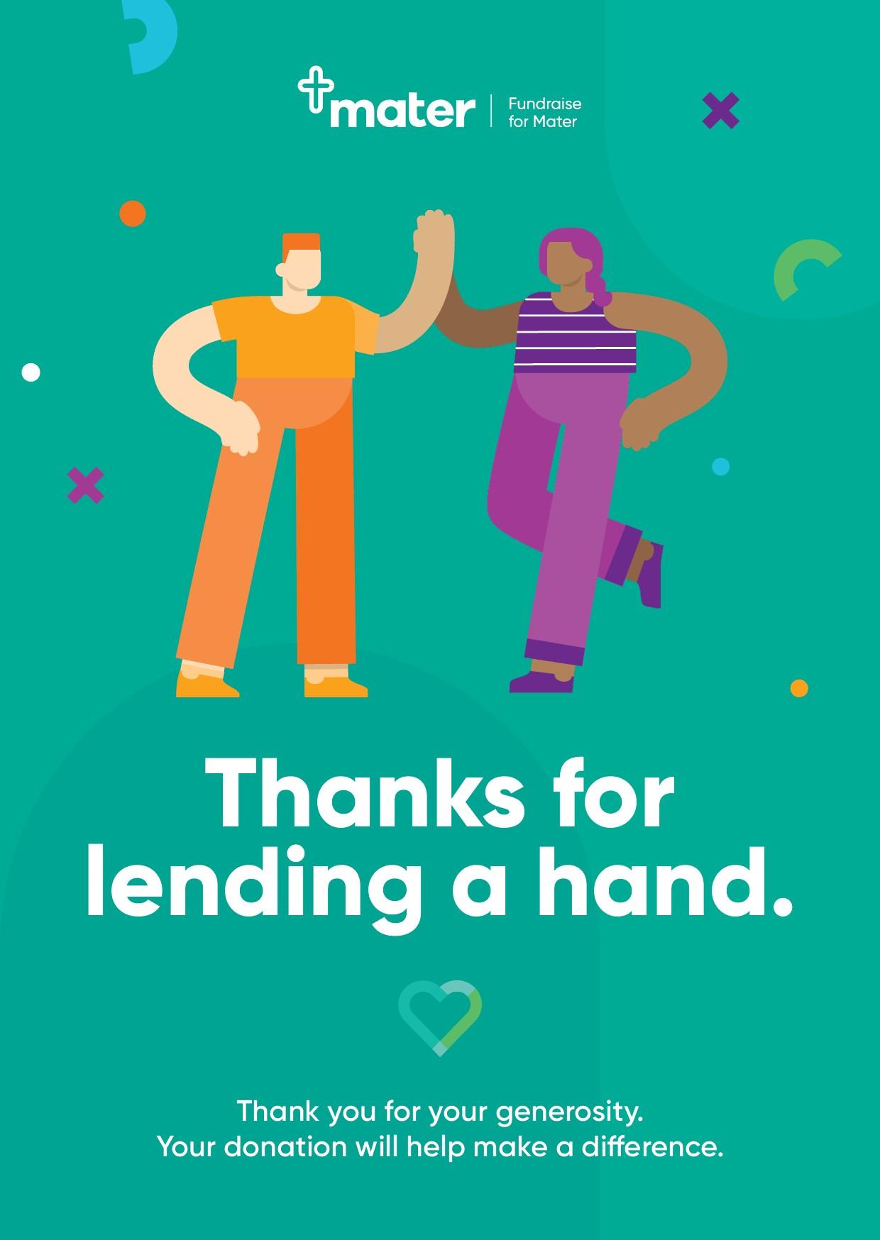 Thank you e-card -Thanks for lending a hand