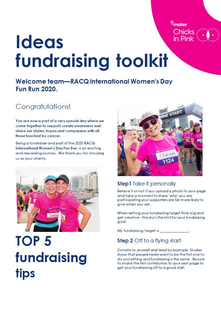 Ideas fundraising toolkit