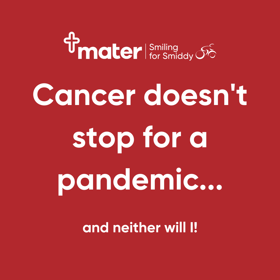 Instagram - Cancer doesn't stop for a pandemic
