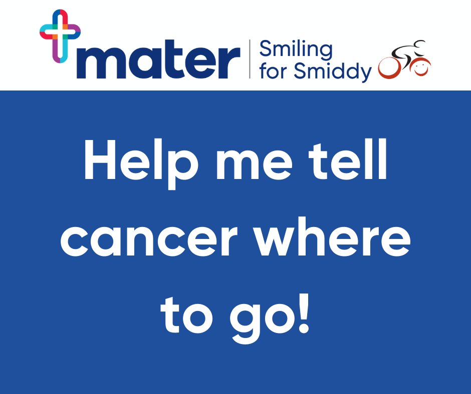 Facebook - Help me tell cancer where to go!