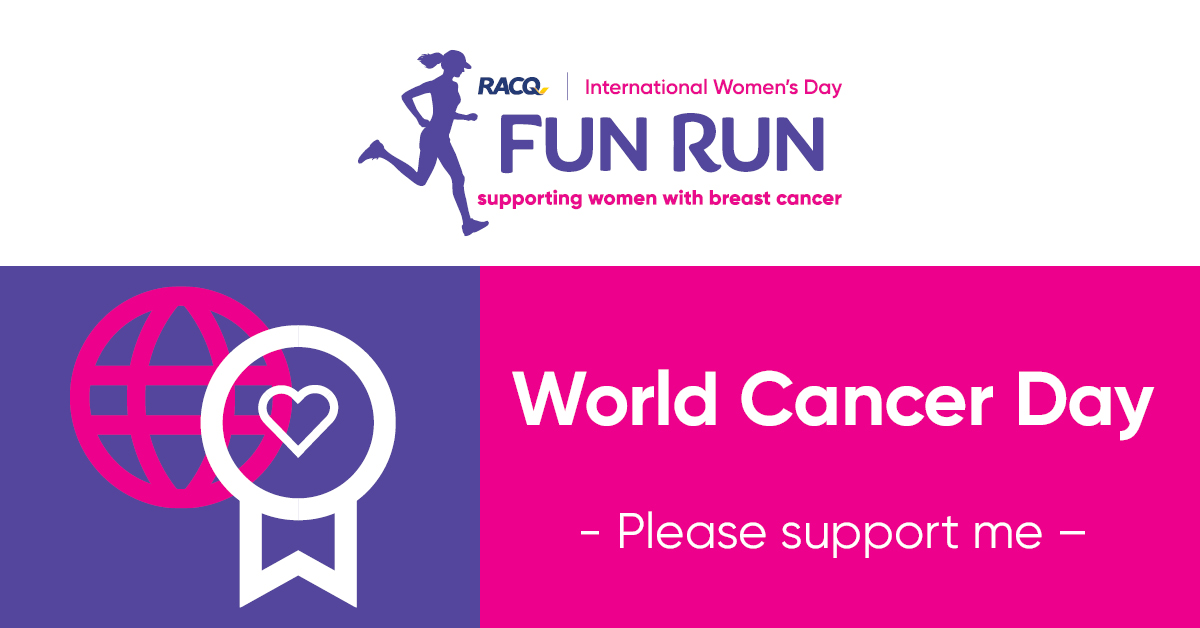 Facebook - World Cancer Day - I could use your support